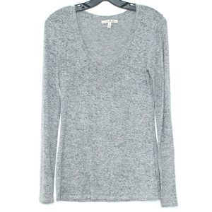 Express One Eleven Gray Long Sleeve Top Medium A2